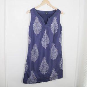 Tommy Hilfiger Pocketed Paisley Sleeveless Dress